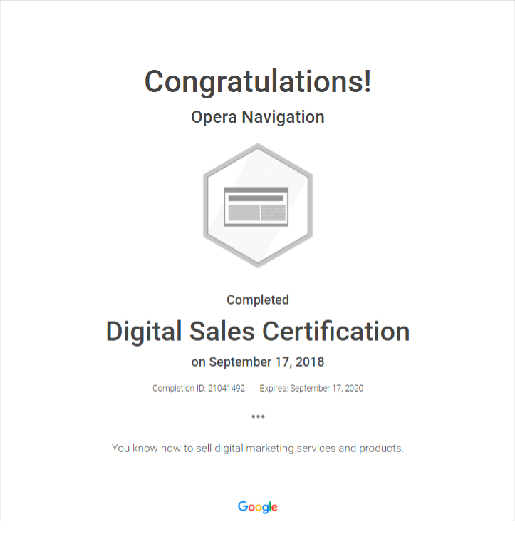 google certification